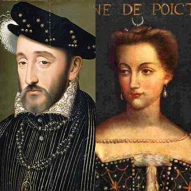 Генрих II - Диана де Пуатье
