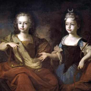 Петр II и Наталья в детстве