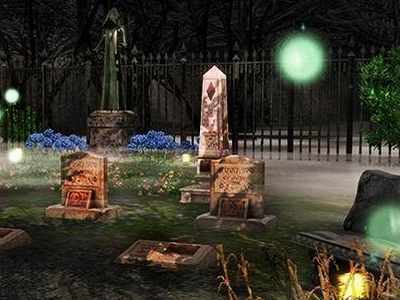 Блуждающие огни на кладбище