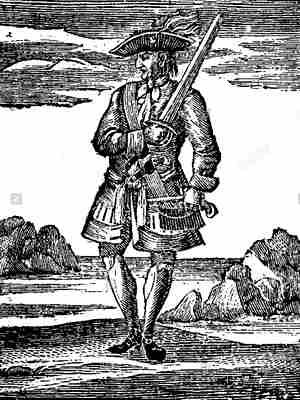 Рэкхем гравюра XVIII века