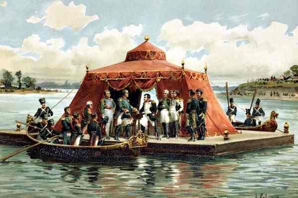 Наполеон и Александр 1 в Тильзите