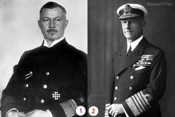 Адмиралы Шеер и Джеллико