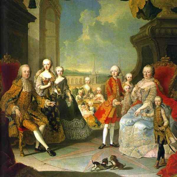 Мария Терезия и семья