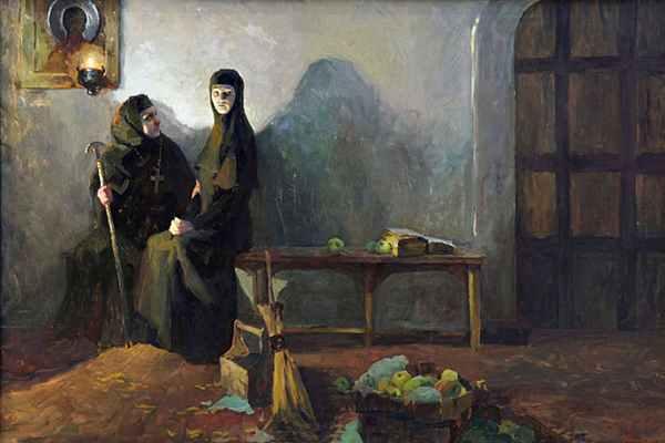Соломония Сабурова в монастыре