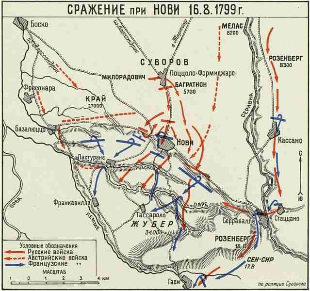 Битва при Нови, карта