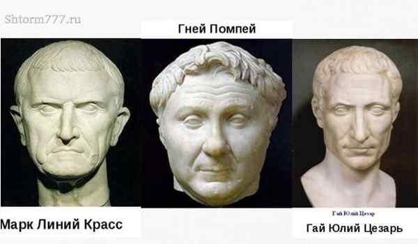 Цезарь, Помпеей, Красс