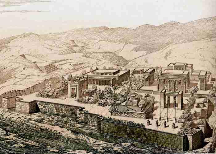 Город Персеполь, реконструкция