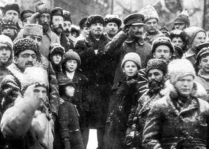 Троцкий с Лениным