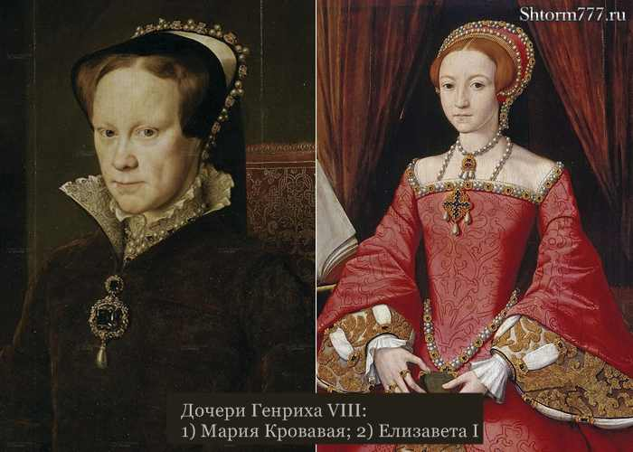 Мария Кровавая и Елизавета I