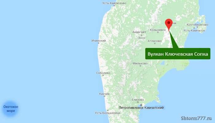 Ключевская Сопка. карта-1