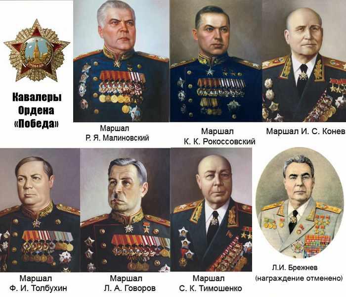 Кавалеры Ордена Победы-3