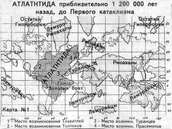 Атлантида карта