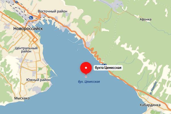 Цемесская бухта, Новороссийск, карта