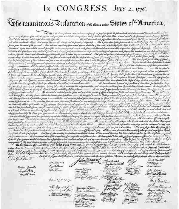 Декларация независимости США, 1776- (3)