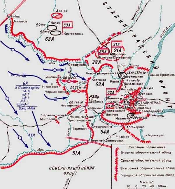 Сталинградская битва, карта
