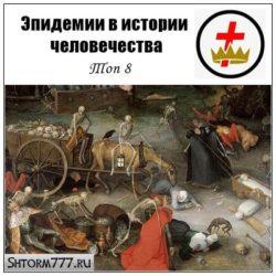 Эпидемии в истории человечества. Топ 8