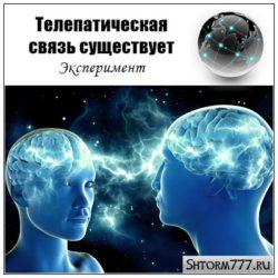 Телепатическая связь существует. Эксперимент