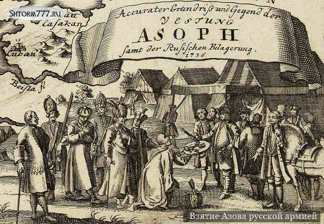 Русско-турецкая война 1735-1739. Взятие Азова