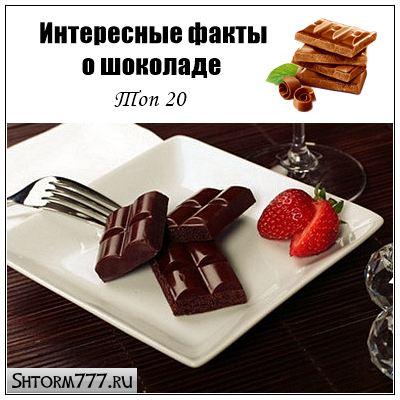 Интересные факты о шоколаде. Топ 20