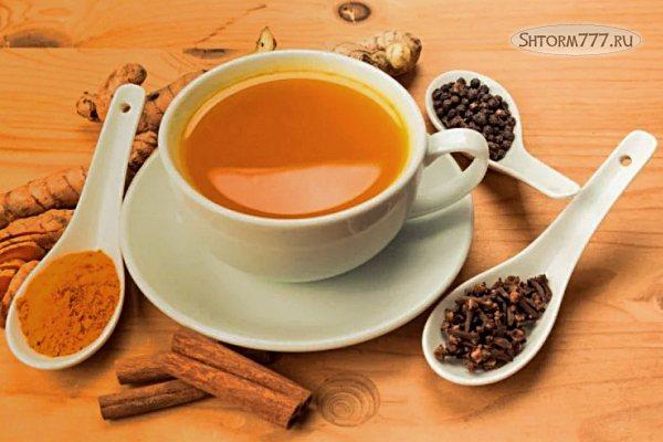 Чай с куркумой, как приготовить