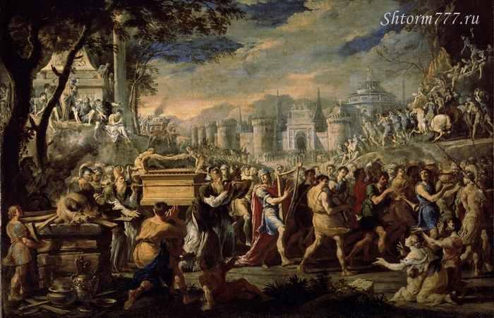 Доменико Гарджуло. Перенесение ковчега Завета царём Давидом в Иерусалим