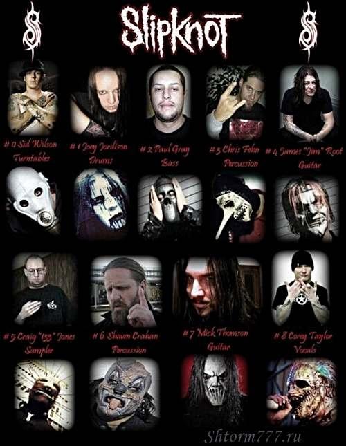 Slipknot без масок