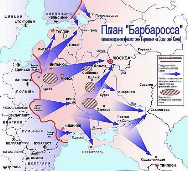 Карта плана Барбаросса