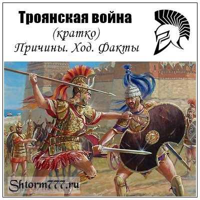Троянская война (кратко). Причины